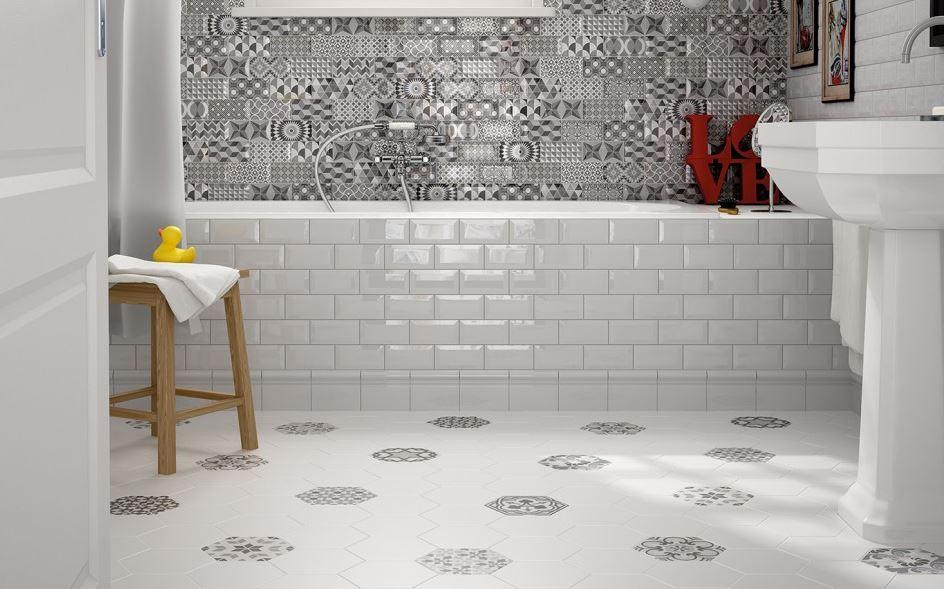 E winfatt piastrelle dimantate bianche 7 5x15 pasta bianca prima scelta - Piastrelle bianche bagno ...